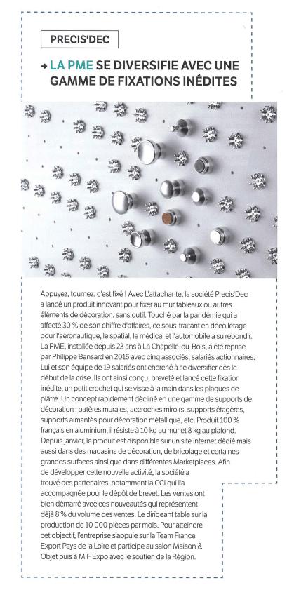 L'article du magazine MAINE ECO